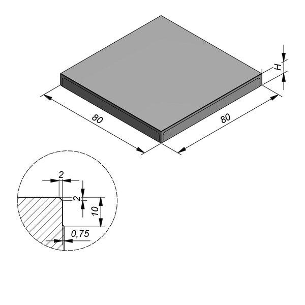 Product image for Megategel Carreau 80x80cm (LxB)