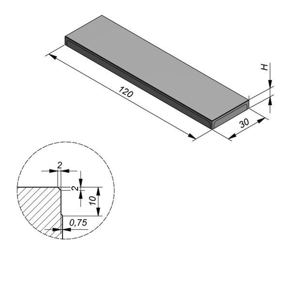 Product image for Megategel Carreau 120x30 (LxB)