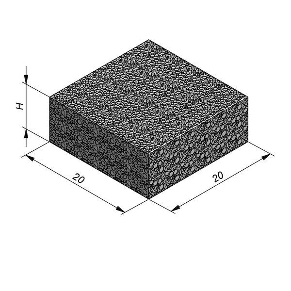 Product image for Klinker waterdoorlatend Infiltro 20x20cm (LxB)