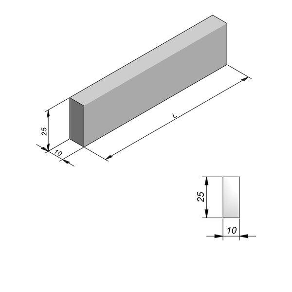Product image for Bordure Classic plane 25x10cm (Hxl)
