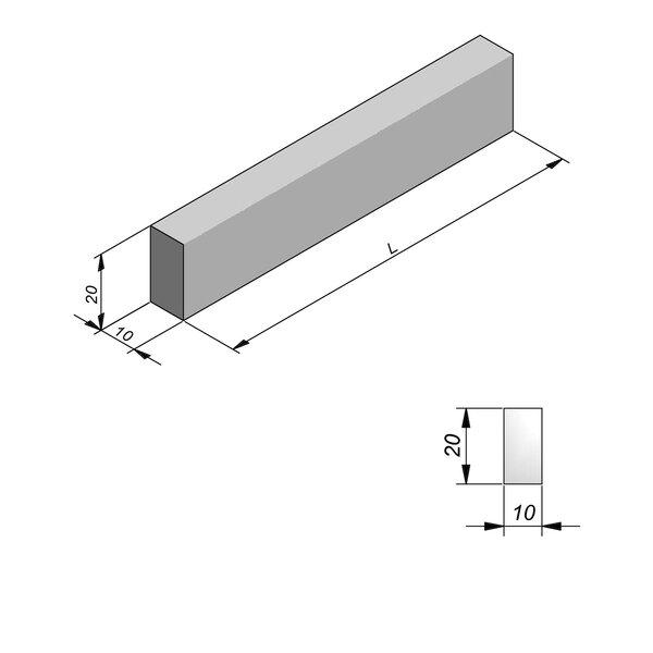 Product image for Bordure Classic type ID2 plane 20x10cm (Hxl)