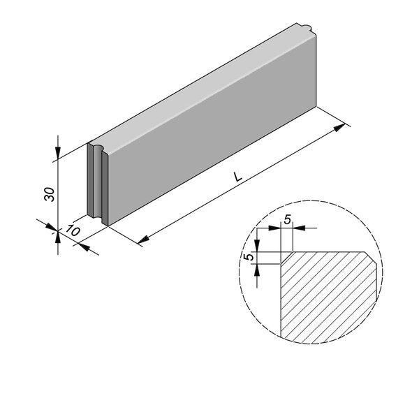 Product image for Bordure Classic tenon/mortaise 30x10cm (Hxl)