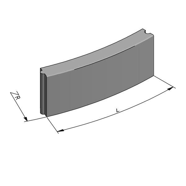 Product image for Bordure Classic courbe tenon/mortaise 30x10cm (Hxl)