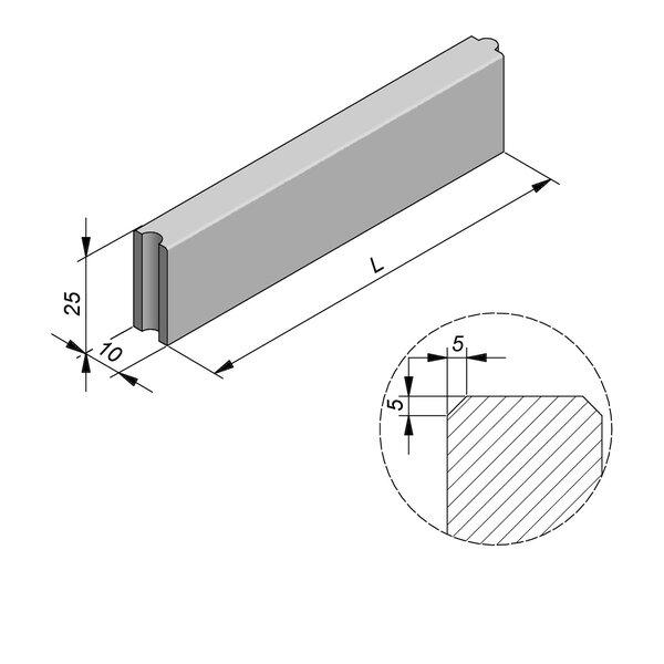 Product image for Bordure Classic tenon/mortaise 25x10cm (HxB)