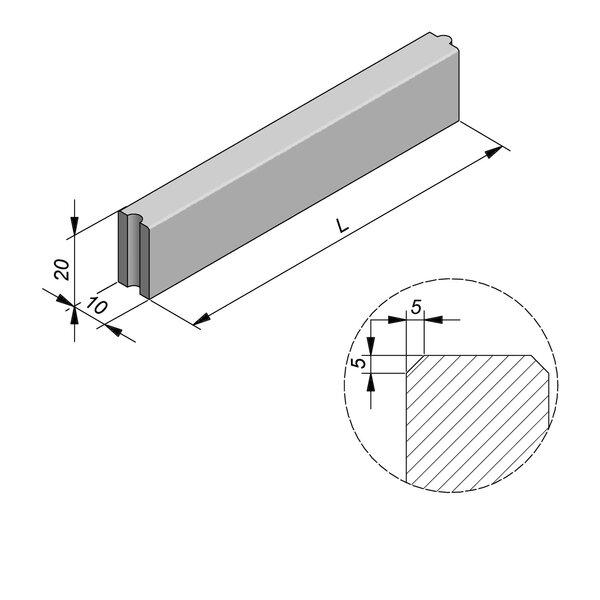 Product image for Bordure Classic tenon/mortaise 20x10cm (Hxl)