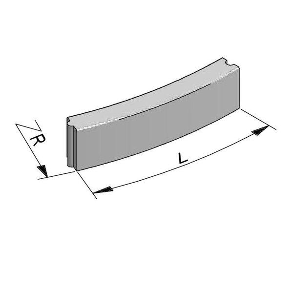 Product image for Bordure Classic courbe tenon/mortaise 20x10cm (Hxl)