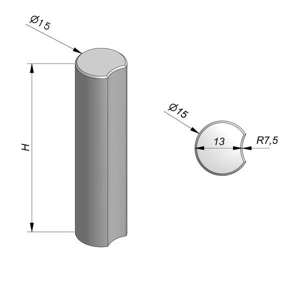 Product image for Palissade Classic circulaire avec encoche 15cm (Diam.)