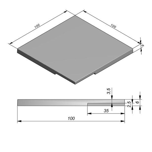 Product image for Megategel Smooth margelle de piscine pièce coin 100x100cm (Lxl)