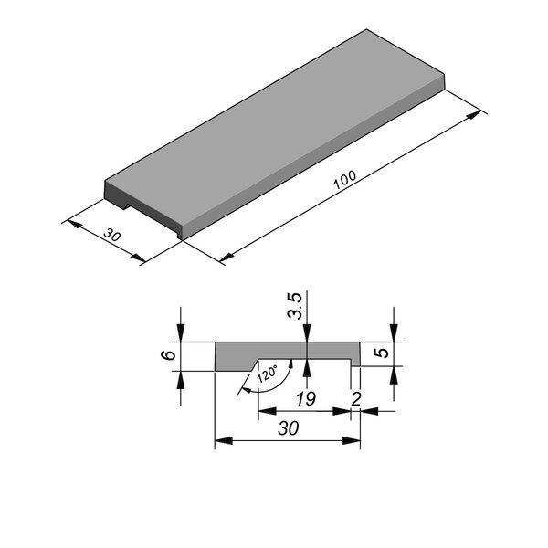 Product image for Megategel Smooth margelle de piscine 100x30cm (Lxl)