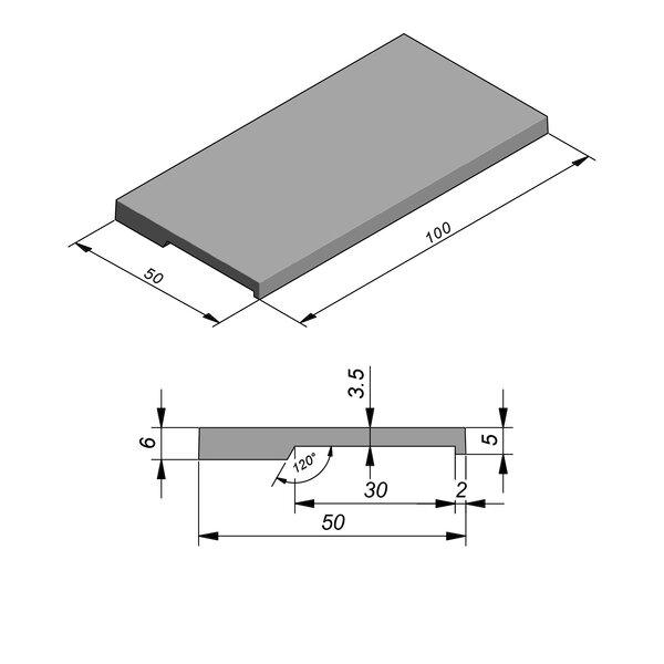 Product image for Megategel Smooth margelle de piscine 100x50cm (Lxl)