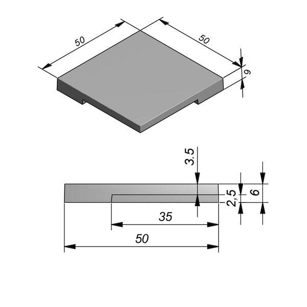 Product image for Megategel Smooth margelle de piscine pièce coin 50x50cm (Lxl)