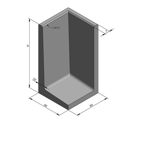Product image for Elément en L coin type 50 50x50cm (lxL)