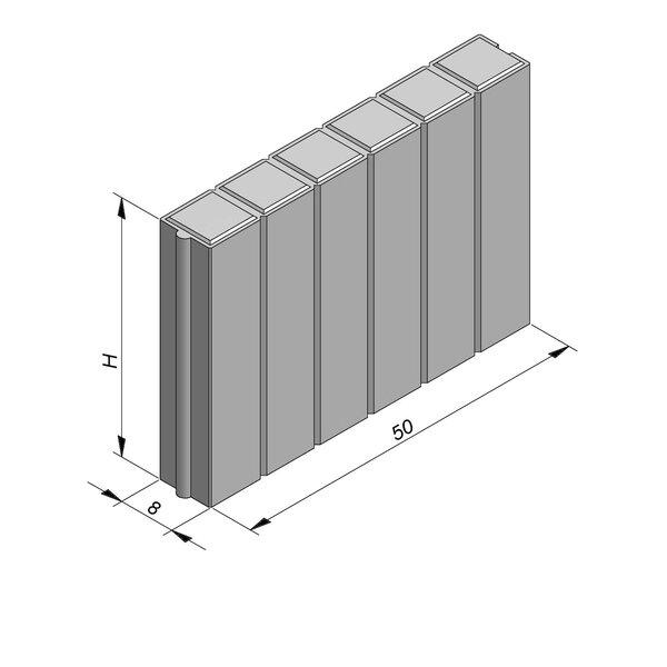 Product image for Bordure palissade Classic droit  50x8 cm (Lxl)