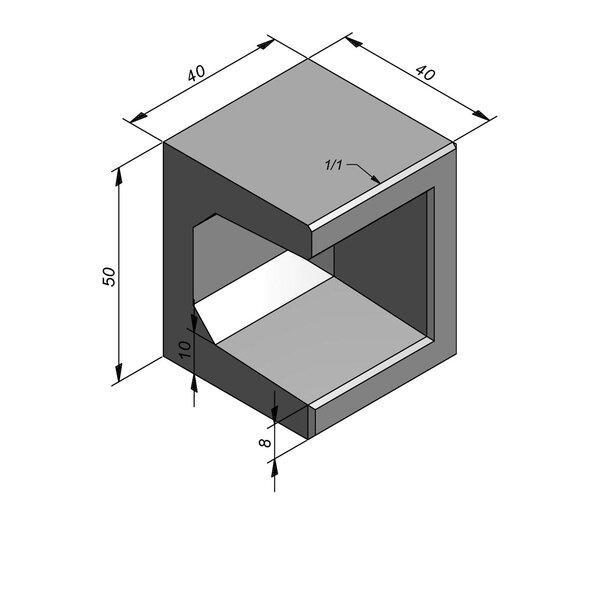 Product image for Elément en U coin type 40 40x40cm (lxL)